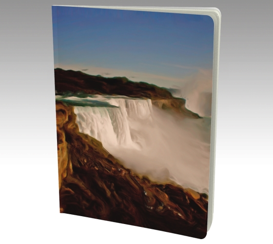 Large Journal with art Majestic Niagara Falls by Malinee Ganahl