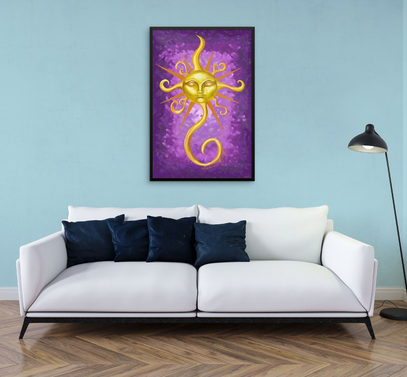Fine Art Print on Wall- Glow by Malinee Ganahl